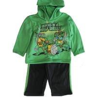 Nickelodeon Baby Boys Green Ninja Turtles Hooded 2 Pc Pants Set 12-24M