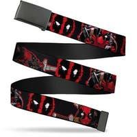 Marvel Universe Blank Black Bo Buckle Deadpool 2 Action Poses Splatter Web Belt