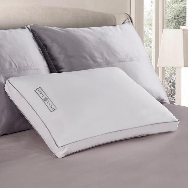SCOTT LIVING White Down Fiber Gusseted Pillow. Opens flyout.