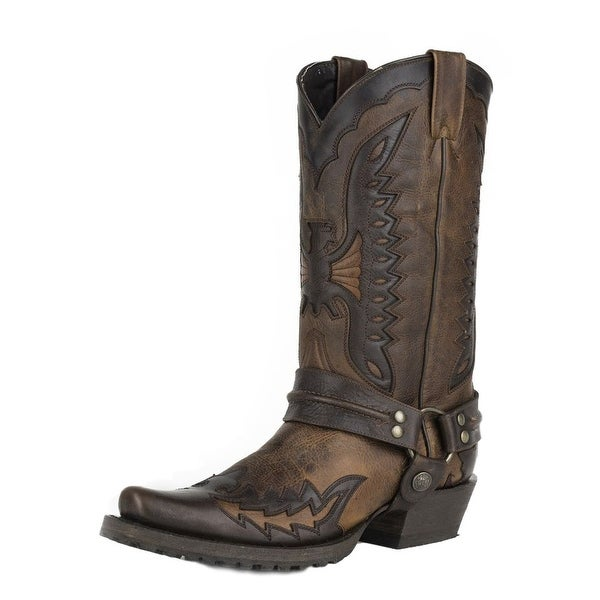 Stetson Western Boots Mens Outlaw Eagle Brown