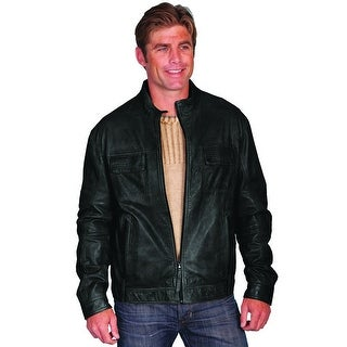 Scully Western Jacket Mens Zip Front Lambskin Leather Stand Collar 116