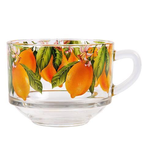 STP Goods Lemons Jumbo 18 fl oz Soup Coffee Tea Glass Mug