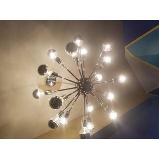 Light Society Sputnik Style Chrome Iron Chandelier