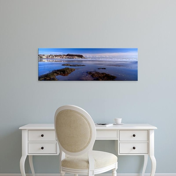 Easy Art Prints Panoramic Images's 'Town, Scarborough, South Bay, North Yorkshire, England, United Kingdom' Canvas Art