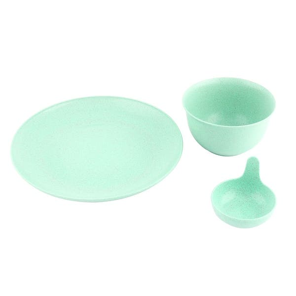 Household Kitchen Wheat Straw Tableware Food Storage Bowl Plate Dish Set Green On Sale Overstock 28768074