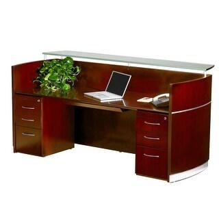 Allure Glass Reception Desk