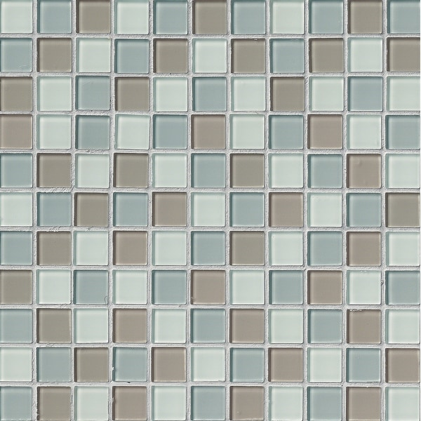 """MSI THDWG-CR-4MM 1"""" Square Mosaic Tile - Glossy Glass Visual - Sold by Carton (20 SF/Carton) - Majestic Ocean"""