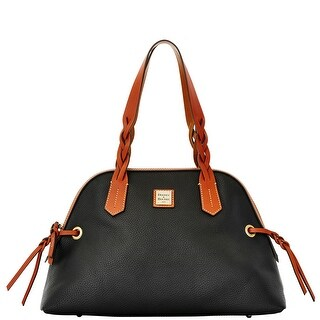 Dooney & Bourke Pebble Grain Small Domed Satchel (Introduced by Dooney & Bourke at $228 in Dec 2015) - Black
