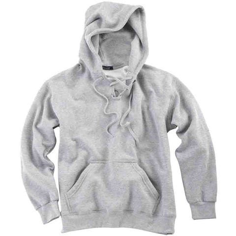 River's End Lace-Up Hoodie Mens Athletic Hoodie Pullover - Grey