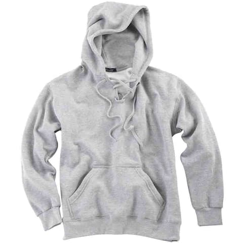 River's End Lace-Up Hoodie Mens Athletic Sweater - Grey