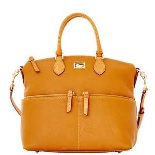Dooney & Bourke Dillen Double Pocket Satchel (Introduced by Dooney & Bourke at $288 in Sep 2011) - Desert|https://ak1.ostkcdn.com/images/products/is/images/direct/2fcfe24f28cbcf7f3b09dda76ccb3a14c4781d35/Dooney-%26-Bourke-Dillen-Double-Pocket-Satchel.jpg?impolicy=medium