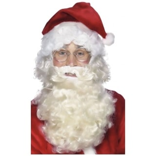 Silver Wire Framed Santa Specs Adult Costume Accessory