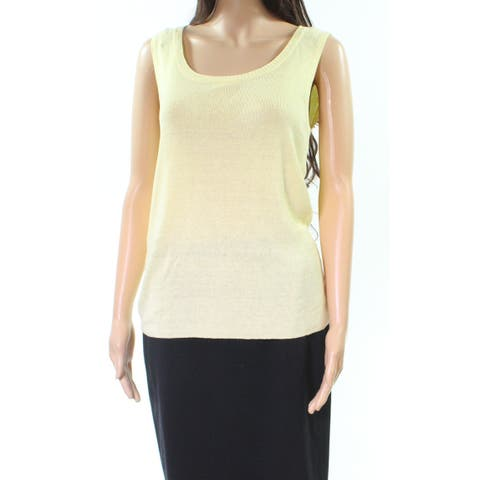 Jones York Yellow Womens Size Small S Pullover Sleevless Vest