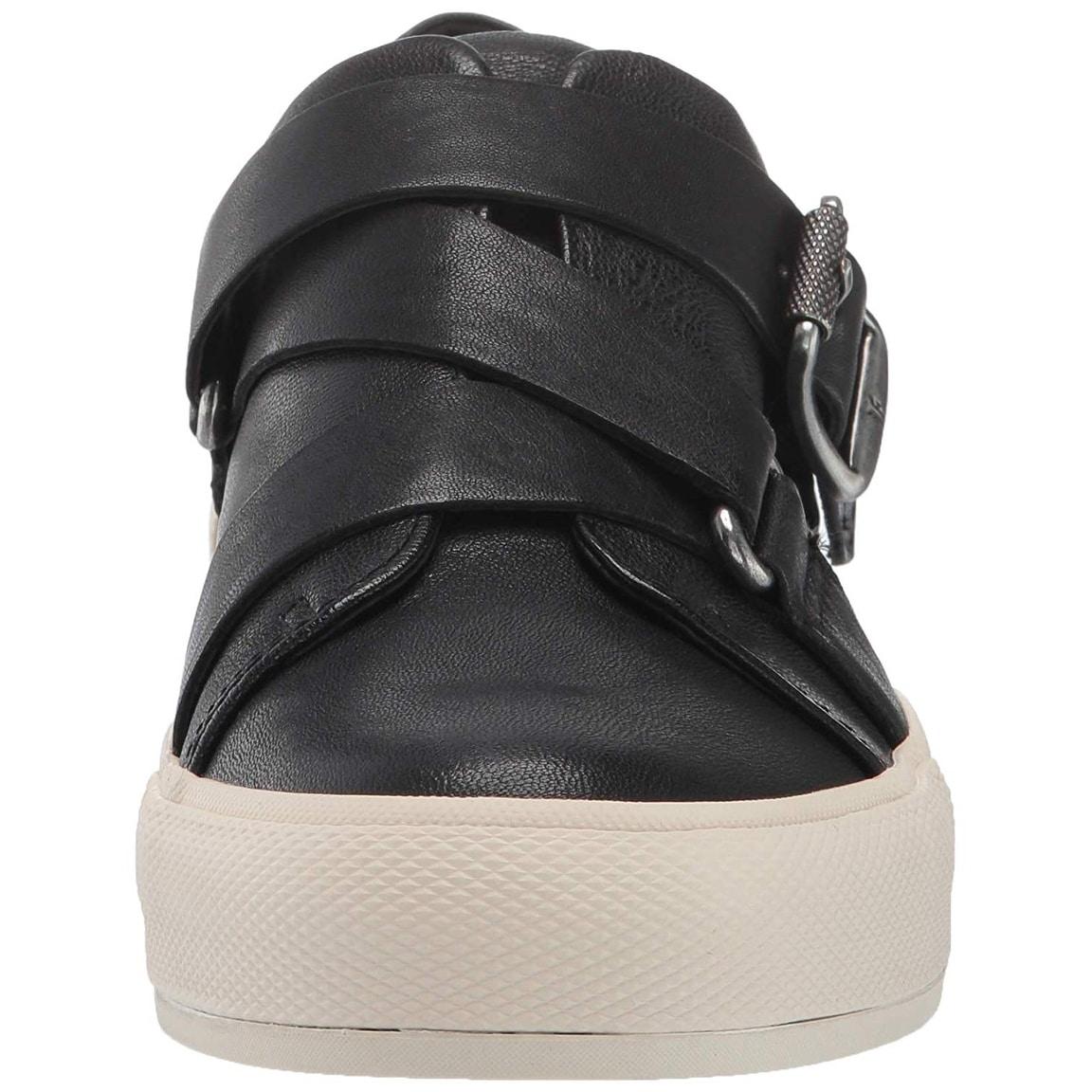 Frye Womens Gia Moto Low Sneaker