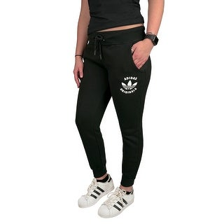 adidas Originals Women's Super Fleece Track Pants - Black