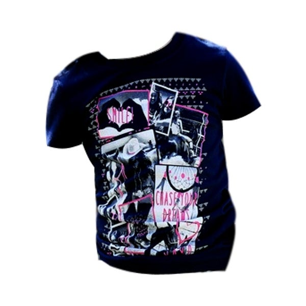 Cruel Girl Western Shirt Girls Kids S/S Tee Jersey Navy