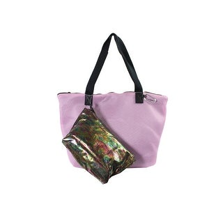 Ideology Pink Multi Perforated Tote With Pouch OS