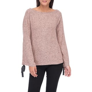 Bobeau Jessa Tie Sleeve Cozy Top