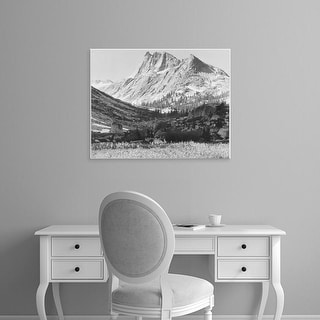 Easy Art Prints Ansel Adams's 'Boaring River, Kings Region, Kings River Canyon' Premium Canvas Art