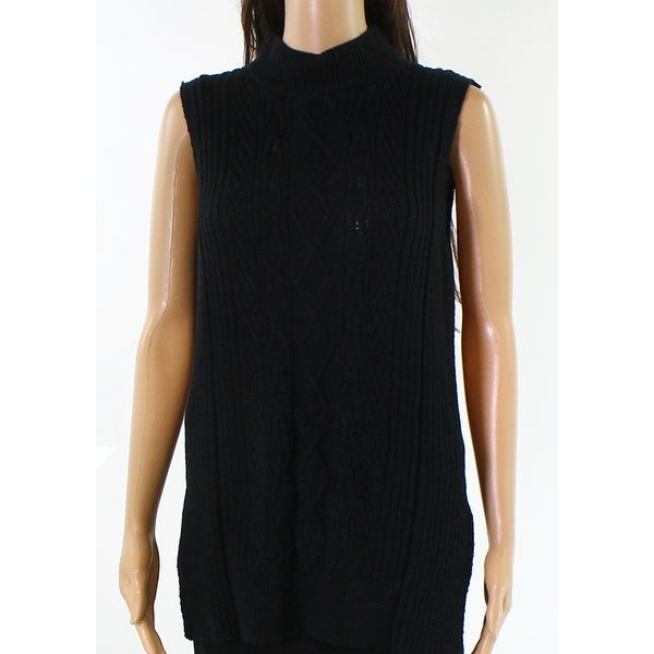 8e99e59f3a Michael Stars NEW Black Womens Size Medium M Cable-Knit Tunic Sweater