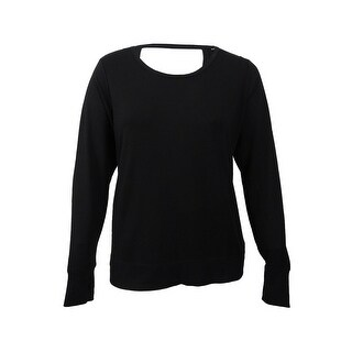 Ideology Women's Plus Size Open-Back Top - Noir (3 options available)