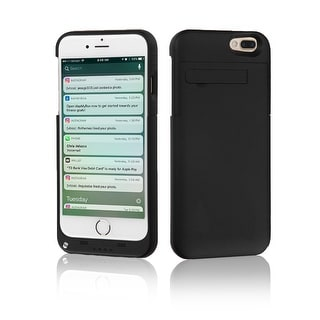 Indigi® High Capacity 4000mAh Rechargeable External Battery Case for iPhone 7 Plus- Black