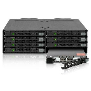 """Icy Dock Tougharmor Mb998sp-B 8 X 2.5"""" Sata 6Gbps 7Mm Hdd / Ssd Mobile Rack / Cage In 1 X 5.25"""" Bay"""