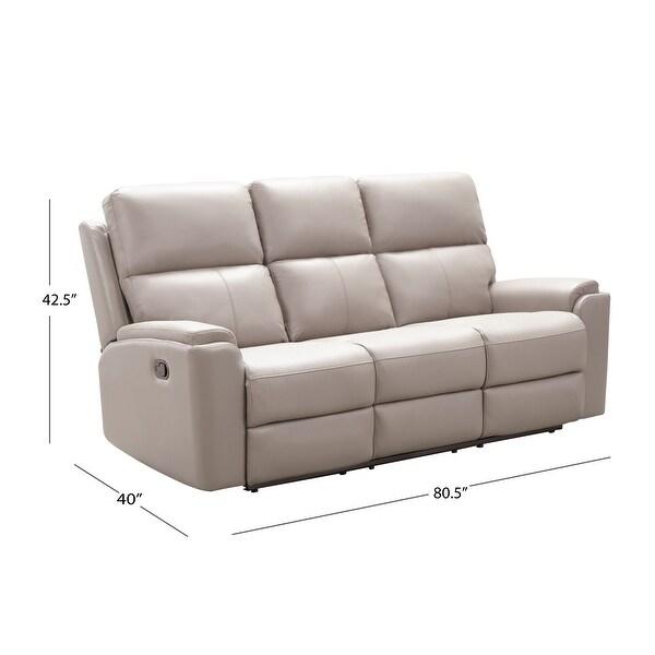 Abbyson Jackson Top Grain Leather Manual Reclining Sofa Set