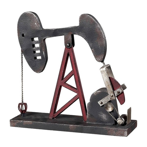 Elk Home 51-10024 Oil Pump Accessory - Blackened Iron / Red