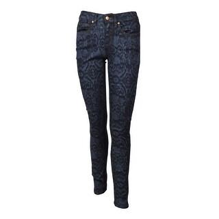 Eileen Fisher Women's Faded Ikat Skinny Jeans - INDIGO - 2