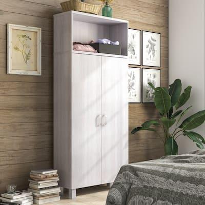 Furniture of America Jessica Farmhouse 5-shelf Armoire