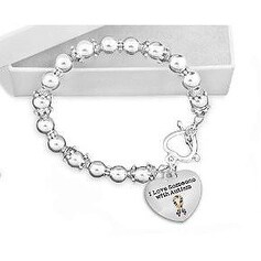 I Love Someone with Autism Beaded Bracelet