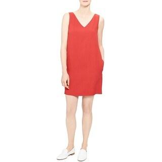 Theory Womens Shift Dress V-Neck Sleeveless