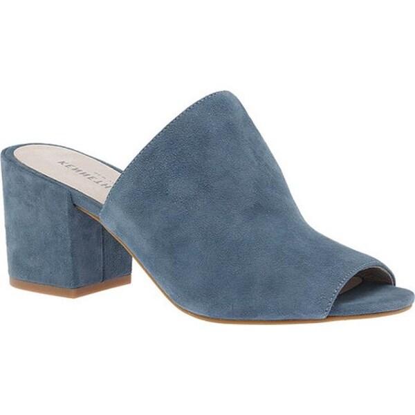 84af6a6239c7 Kenneth Cole New York Women  x27 s Vega Block Heel Slide Sandal Indigo  Leather
