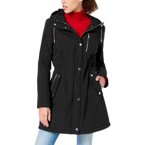 Tommy Hilfiger Women's Velour Lined Drawstring Winter Anorak Jacket