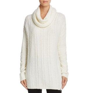 Love Scarlett Womens Tunic Sweater Cowl Neck Wool Blend