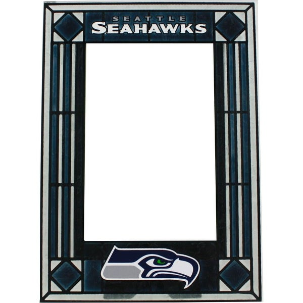 Shop Seattle Seahawks Art Glass Vertical Picture Frame - Free ...