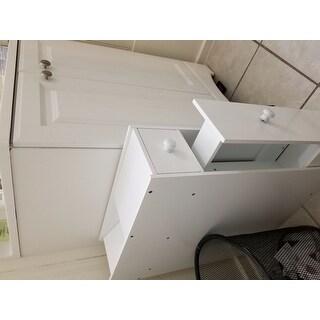 Costway Narrow Wood Floor Bathroom Storage Cabinet Holder ...