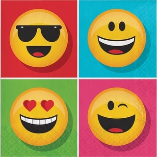 """Show Your Emojions 6.5"""" Paper Luncheon Napkins: 16 Count"""