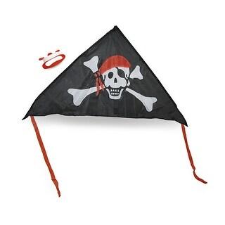Jolly Roger Black, White, Red Pirate Delta Kite 55 in.