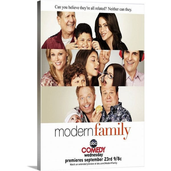 """Modern Family - TV Poster"" Canvas Wall Art"