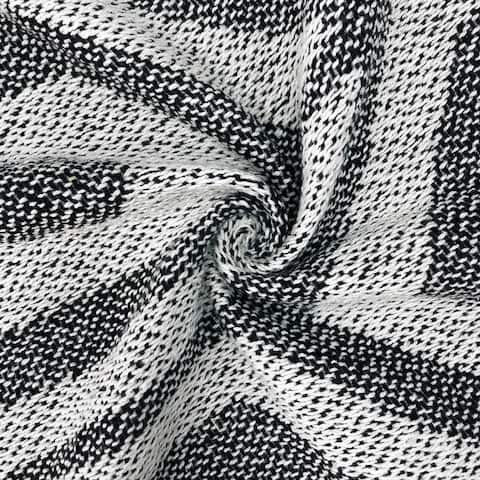 Marley Diamond Black Cotton Blanket