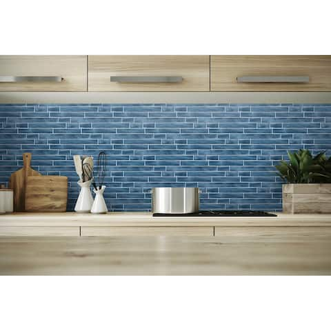 NextWall Brushed Metal Tile Peel and Stick Removable Wallpaper