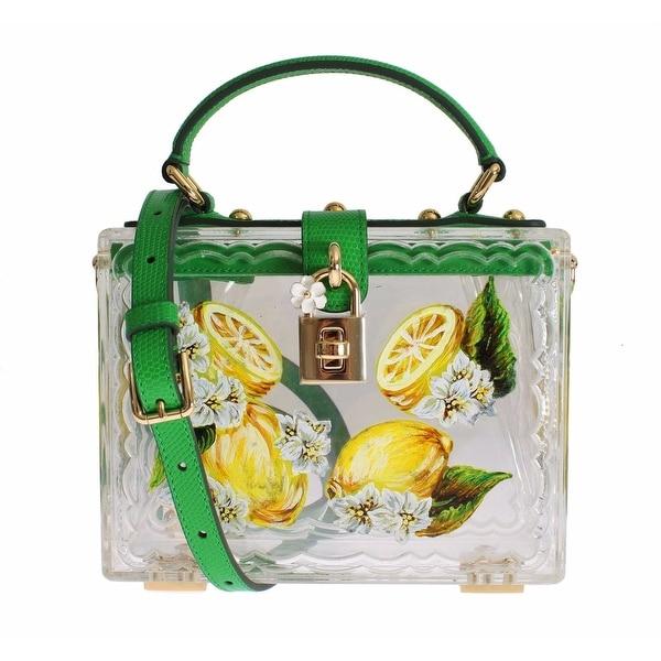 a79fea508a Shop Dolce   Gabbana Plexi Lemon Motive Painted Hand Shoulder Bag - Green -  Free Shipping Today - Overstock - 16714983