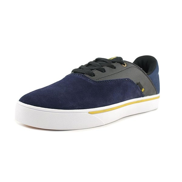 DC Shoes Wallon S Men Round Toe Suede Blue Skate Shoe