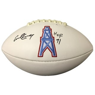 Earl Campbell Signed Houston Oilers Logo Football HOF 91 JSA