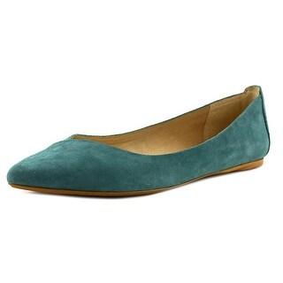 Joe's Azure Women Pointed Toe Suede Green Flats