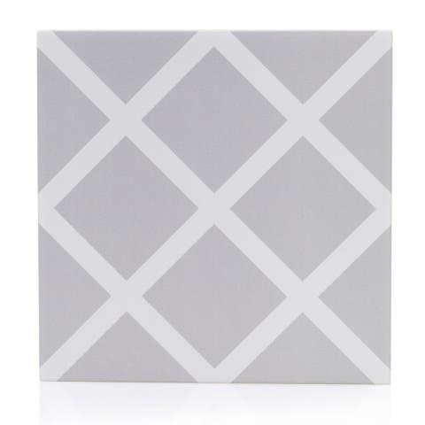 8x8 Graphic Grey Mosaic Porcelain Floor and Wall Tile (3.88 Sq. Ft./ 9 pcs per box)