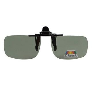 Eyekepper Rectangular Flip up Polarized Clip-on Sunglasses Grey