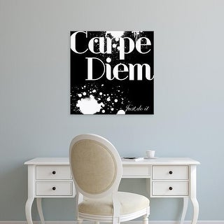 Easy Art Prints GraphINC's 'Carpe Diem' Premium Canvas Art